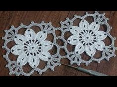 Crochet Lace Edging, Crochet Squares, Crochet Granny, Irish Crochet, Crochet Doilies, Crochet Flowers, Crochet Cushion Cover, Crochet Cushions, Crochet Tablecloth