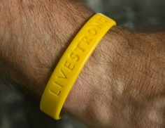 Customized Debossed Livestrong #bracelets Yellow Color