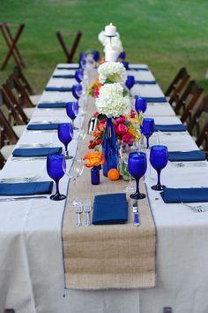Blue bottles and vases, blue glass Cobalt Blue Weddings, Cobalt Wedding, Wedding Colors, Wedding Flowers, Wedding Navy, Fall Wedding, Our Wedding, Dream Wedding, Wedding Ideas