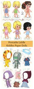 FREE Printable Liddle Kiddles Paper Doll Set