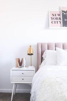Blush Headboard, Pink Headboard, Blush Neutral Bedroom