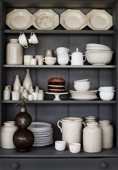 Inside the stunning Queensland, Australia home of stylist and photographer Kara Rosenlund. Image styling and photography by Kara Rosenlund. Kitchen Shelves, Kitchen Dining, Kitchen Dishes, Cupboards, Cabinets, Rustic Decor, Farmhouse Decor, Kara Rosenlund, White Dishes