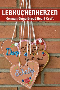 How to Make Paper Lebkuchenherzen (German Gingerbread Hearts) Germany For Kids, German Christmas, Christmas In Germany, Kids Christmas, Kids Around The World, Holidays Around The World, International Craft, Cultural Crafts, Christmas Activities For Kids