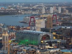 Rotterdam - Markthal from helicopterview
