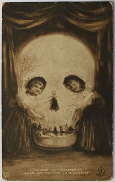 mudwerks:  (via Old/Antique Skull Optical Illusion Postcard | Flickr)