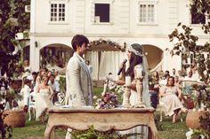 casamento boho - troca de votos no casamento