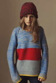 Knit sweater and hat