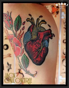 Like Real Heart - Old School Tattoo - by Jack Gallowtree