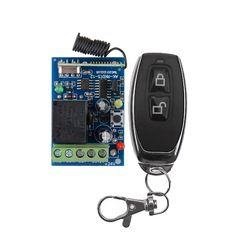 DC 12V 1 CH 10A RF Wireless Remote Control Lighting Switch System, Transmitter + Receiver,315Mhz 433 MHZ