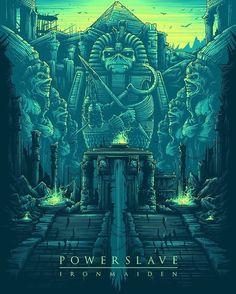 Powerslave - Iron Maiden by Dan Mumford