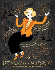 La bioquímica Dorothy Crowfoot Hodgkin (1910-1994) nació un 12 de mayo.