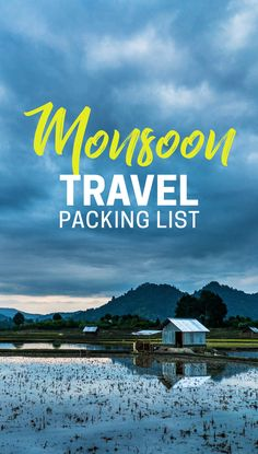 Looking to travel in monsoon? Wondering what you need to pack for monsoon travel? Here's a monsoon travel packing list, with all the essentials to keep you high and dry during the monsoon season. Useful for anyone traveling to Southeast Asia, India, or anywhere tropical and wet!