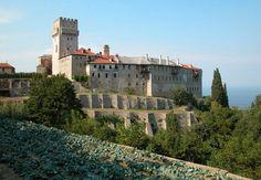 TRAVEL'IN GREECE I The monastery of #Karakallou, Exterior view, #travelingreece