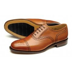 Tweed zapato semi-brogue de Loake Shoemakers
