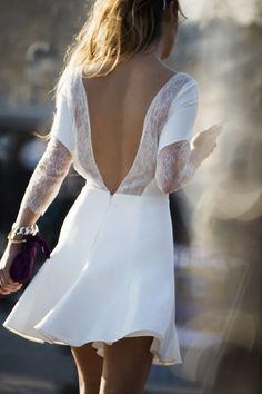 White beauty back dress