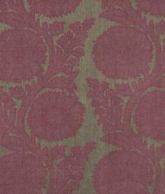 Robert Allen Glamis Tulip I was thinking more of a plum/ eggplant for a duver cover, but I really love this fabric.