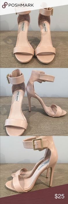 Jessica Simpson nude ankle strap heels. Size 8. Jessica Simpson nude ankle strap sandal. Size 8 (In Great Condition) Jessica Simpson Shoes Heels