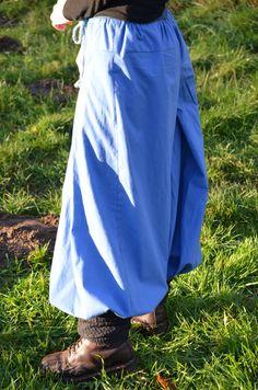 Hosen - Fairtrade Hose - Hakama Pluderhose grün, gr. Größe - ein Designerstück von FairTale bei DaWanda