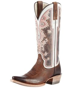 Ariat Alameda Vintage Cowgirl Boots - Snip Toe...kinda pointy! But the tops are sure pretty! :)jb
