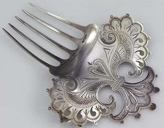 Dominick and Haff Antique Sterling Silver Hair Comb