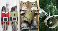 Malléable à souhait, le rouleau de papier toilette peut se transformer en un joli accessoire déco pour Noël. La preuve en images, avec 8 DIY vraiment canon ! Advent Calendar, Diy, Images, Holiday Decor, Home Decor, Gold Christmas Ornaments, Wraps, Paper Crafting, Wish