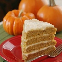 Pumpkin, warm Autumn spices and luxurious maple cream cheese frosting- the perfect cake for Fall!
