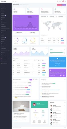 Blueprint responsive admin dashboard template dashboard diverse is a bootstrap 4 dashboard admin template for 2018 it has lots of ui kits that will really help a developer to build their admin panel within very malvernweather Image collections