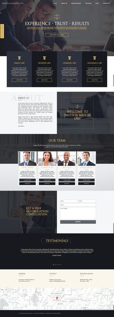 Law Firm, Attorney Website  Design Theme