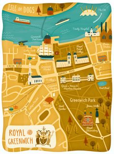 Greenwich Map by Wesley Robins, via Behance