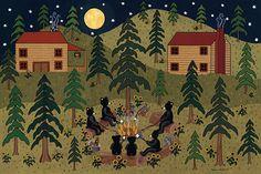 Woodland Adventure par Shelly DeVous sur Etsy