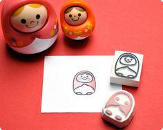 Unazukin hand carved rubber stamps