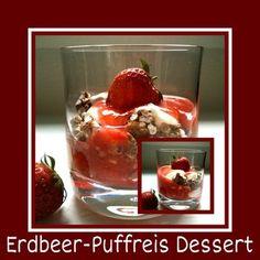 'Erdbeer-Puffreis Dessert'