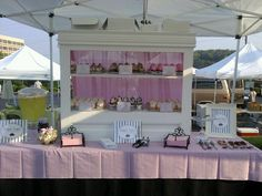 My cupcake stand at the farmers market!