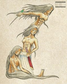 Mayari, Hana (or Hanan in other references) and Tala became the Tagalog goddesses of moon, morning and star, respectively. Russian Mythology, Philippine Mythology, Mythological Creatures, Mythical Creatures, Legend Stories, World Mythology, Philippines Culture, Filipino Tattoos, Legends And Myths
