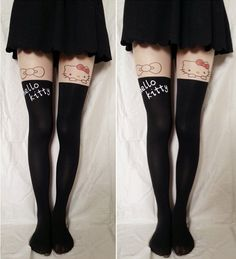 Little kitty cat Thigh High Tights from fashionpenny