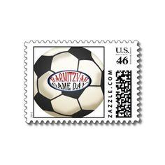 Soccer Bar Mitzvah Postage Stamps