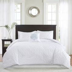 Madison Park Mansfield Quilted White Comforter Set - Free Shipping Today - Overstock.com - 18524832 - Mobile