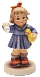 Hummel Club Figurines: Hummel Club Figurine: Wait For Me Hummel Figurine 2148 Sold Out