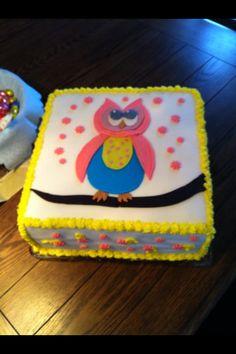 Rainbow Cake Baby Shower Cake