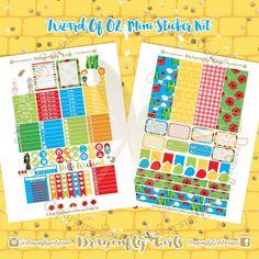 Wizard of OZ Printable Planner Stickers Mini Kits pdf 2 jpeg Erin Condren Life Planner Filofax MAMBI Color Crush Websters