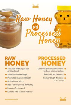 Raw Honey vs Processed Honey is part of Honey benefits - Love raw honey It's loaded with amino acids, minerals, and enzymes that make it an energypacked nutrient bomb Just steer clear of the processed stuff! Health And Nutrition, Health And Wellness, Health Tips, Vegan Nutrition, Paleo For Beginners, Ginger Benefits, Manuka Honey Benefits, Honey Health Benefits, Cinnamon Benefits