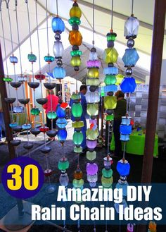 30 Amazing DIY Rain Chain Ideas 30 Amazing DIY Rain Chain Ideas In modern cities, it is nearly impossible to take a seat inside of a house with a yard, . Outdoor Crafts, Outdoor Art, Outdoor Gardens, Outdoor Decor, Garden Crafts, Garden Projects, Diy Projects, Sun Catchers, Rain Catcher