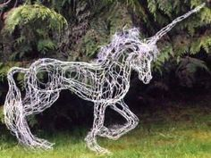 unicorn wire sculpture for the garden - how beautiful