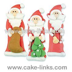 Sugar Santa's Pack of 3