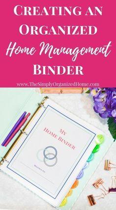 home binder   home management binder   binder organization   home management   printables   organizational printables