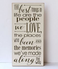 Vinyl Crafts Cream & Brown Best Things in Life Wall Sign   zulily