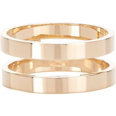 Repossi Women's Berbère Double-Band Cage Ring ($1,900) ❤ liked on Polyvore featuring jewelry, rings, no color, 18 karat gold ring, repossi ring, gold jewelry, 18k ring and polishing gold rings