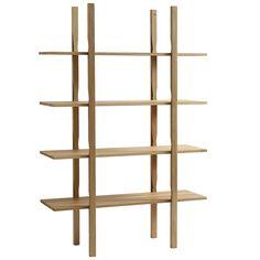 Hayn Wooden Shelf -kirjahylly on erinomainen esimerkki taidokkaasta suunnittelusta – hyllyn liitokset on toteutettu lohenpyrstötekniikalla. Tammesta valmistettu ilmava ja kaunis kirjahylly toimii upeasti myös tilanjakajana.
