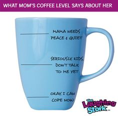 What Mom's Coffee Level Says About Her---I need this mug!