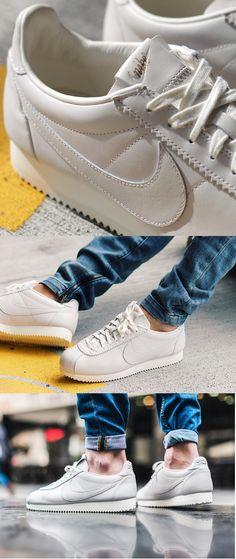 best service 6266c 789ae Nike Cortez Leather PRM QS TZ Sail